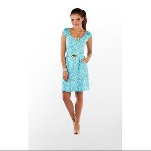 Lilly Pulitzer Ditra Blue Zebra Print Dress